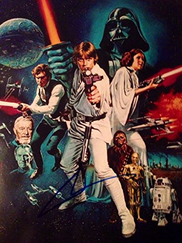 Lucas Star Wars A New Hope Photo Poster Signed by George (The Force Awakens)