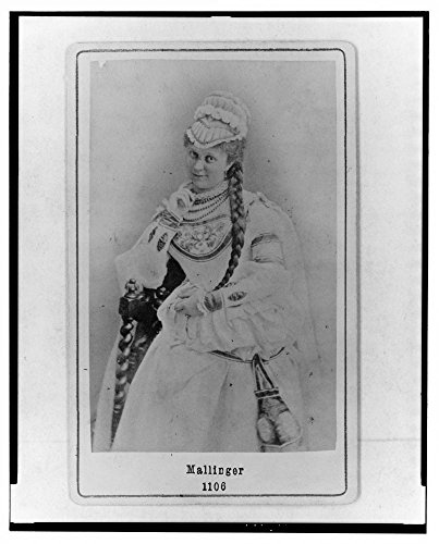 1868 Photo Mallinger Mathilda Mallinger, Austrian opera singer, in costume, three-quarter length portrait, facing front.]()