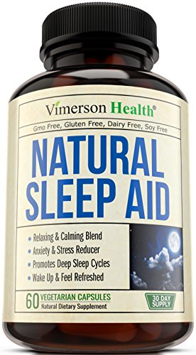 Natural Sleep Aid Pills - with Valerian, Melatonine & Natural Herbs - Premium Quality Sleeping Supplement with Chamomile, Vitamin B6, L-Tryptophan, Ashwagandha, L-Taurine, St. John's Wort, L-Theanine