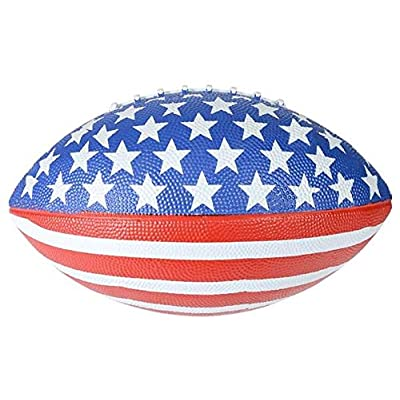 Rhode Island Novelty Patotic Stars and Stpes Amecan Flag Football (1): Toys & Games