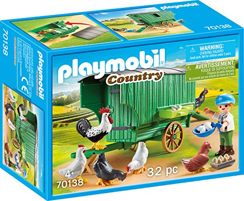 PLAYMOBIL® 70138 Country Mobile Chicken House, - Farm Animal Playmobil