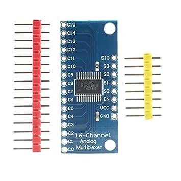 para el Accesorio Arduino Kits 16CH Analog Digital MUX Tablero de Disparo CD74HC4067 Preciso Módulo Multiplexor/Demultiplexer Junta para Arduino DIY + Más: ...