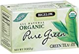 Bigelow Organic Pure Green Tea, 091-Ounce Boxes (Pack of 6), 120 Tea Bags Total