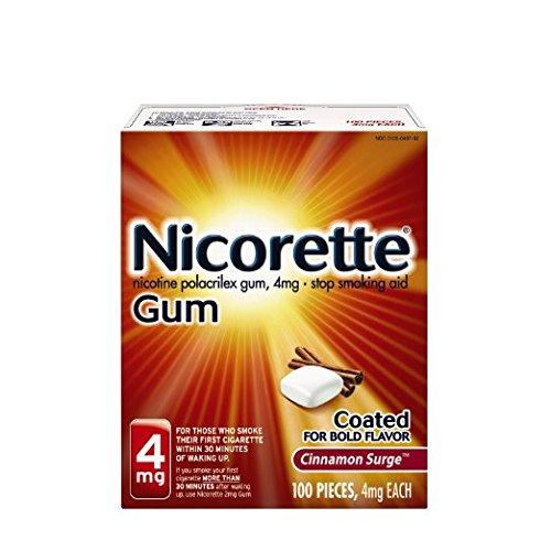 Nicorette Nicotine Gum Cinnamon Surge 4 milligram Stop Smoking Aid 200 count by Nicorette (Image #4)