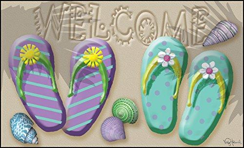 Toland-Home-Garden-18-by-30-Welcome-Flip-Flop-Indoor-Outdoor-Mat-Standard