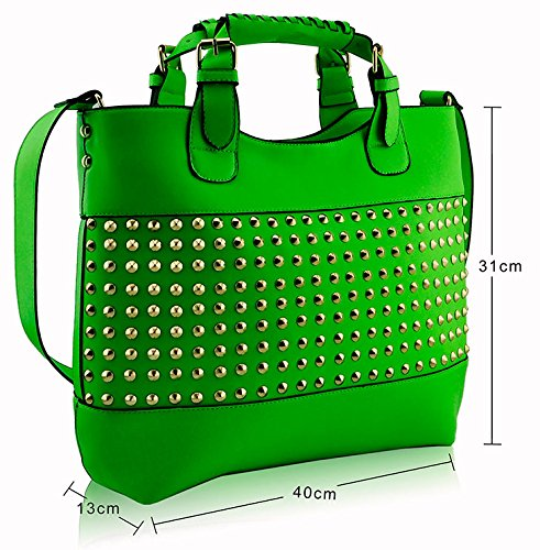 ANNA GRACE - Bolso al hombro de piel sintética para mujer Design 5 - Green