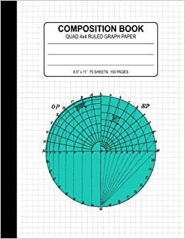 composition book quad ruled 4x4 graph paper notebook large 8 5 x11
