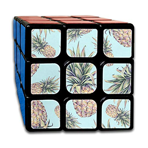 Rubiks Cube Light Blue Pineapple Fantastic Speed Cube 3x3 Smooth Magic Square Puzzle Game Black