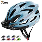 JBM Adult Cycling Bike Helmet Specialized for Mens Womens Safety Protection Red / Blue / Yellow (Gradient Blue, Adult)