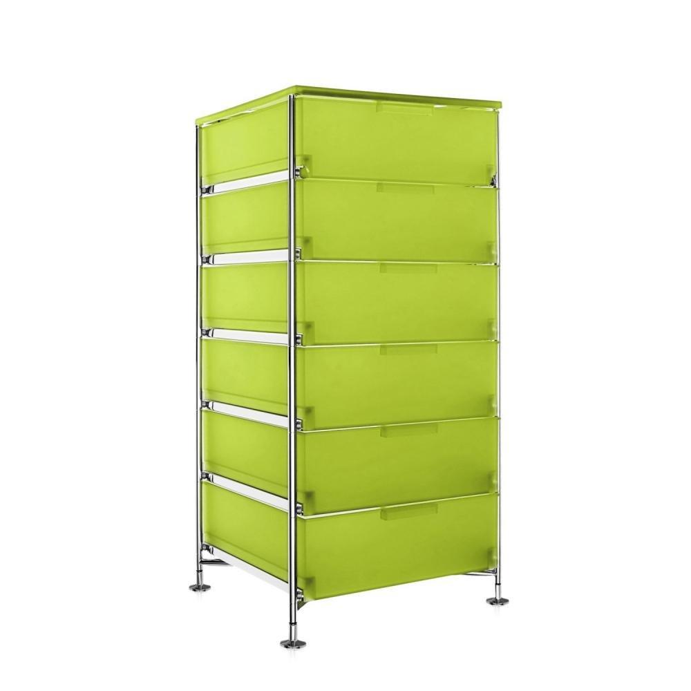 Kartell 2041L3 Container Mobil, 6 Schubladen, zitronengelb