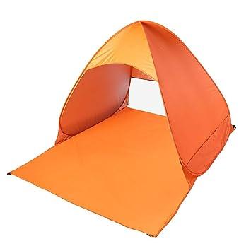 f/ür Familien Aktivit/ät Pop-up,Outdoor Beach Tent Portable Wurfzelt,Leicht Automatik Strandmuschel mit Boden Sonnenschutz UV-Schutz Tarnfarbe Outdoor Poncherish Strandzelt Strand
