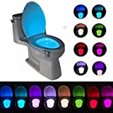 Toilet Light,Toilet Bowl Light Motion Activated16-Color Change Bathroom Seat Light Lamp,Led Toilet Lights Motion detection,Automatic Sensor Light Activated in Darkness