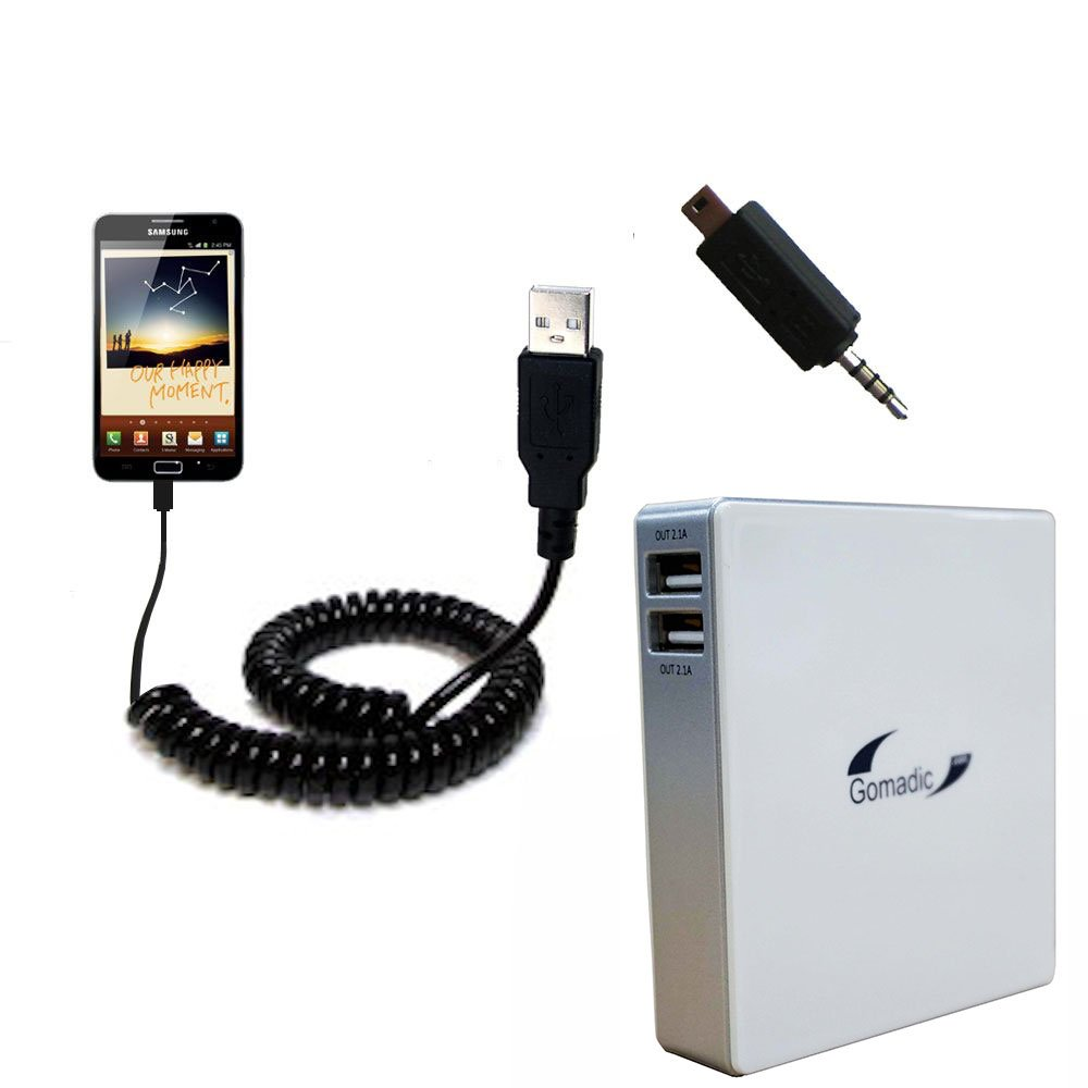 Unique Gomadic Portable Rechargeable Battery Pack designed for the Samsung GALAXY Note - High Capacity Gomadic charger that fits in your pocket