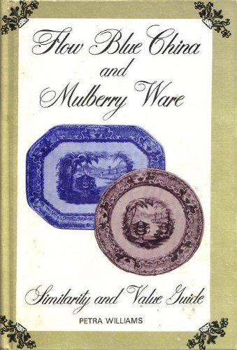 Flow blue china and mulberry ware: Similarity and value guide