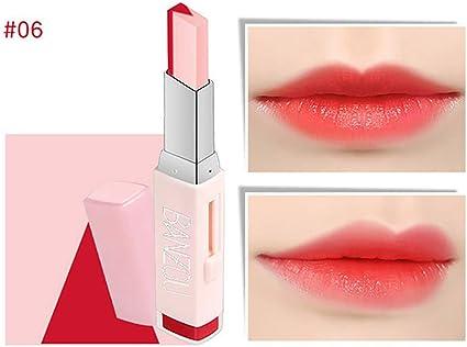 Beito 1 UNID Maquillaje Dos tonos Lápiz labial Hidratante Gradiente Lápiz labial Larga duración Labio Labio Belleza Labios naturales Cosméticos Barra ...