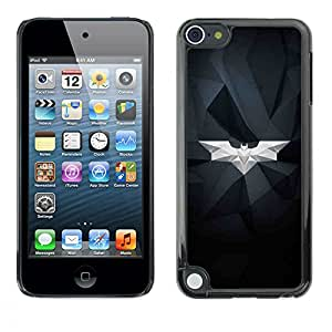 A-type Colorful Printed Hard Protective Back Case Cover Shell Skin for Apple iPod Touch 5 ( Bat White Geometrical Art Modern Structure )