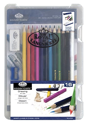 (ROYAL BRUSH Clearview Mini Art Set-Drawing 16pc)