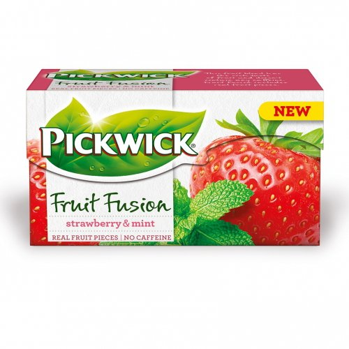 Pickwick Fruit Fusion Strawberry & Mint 20 Tea Bags (Pack of 4)