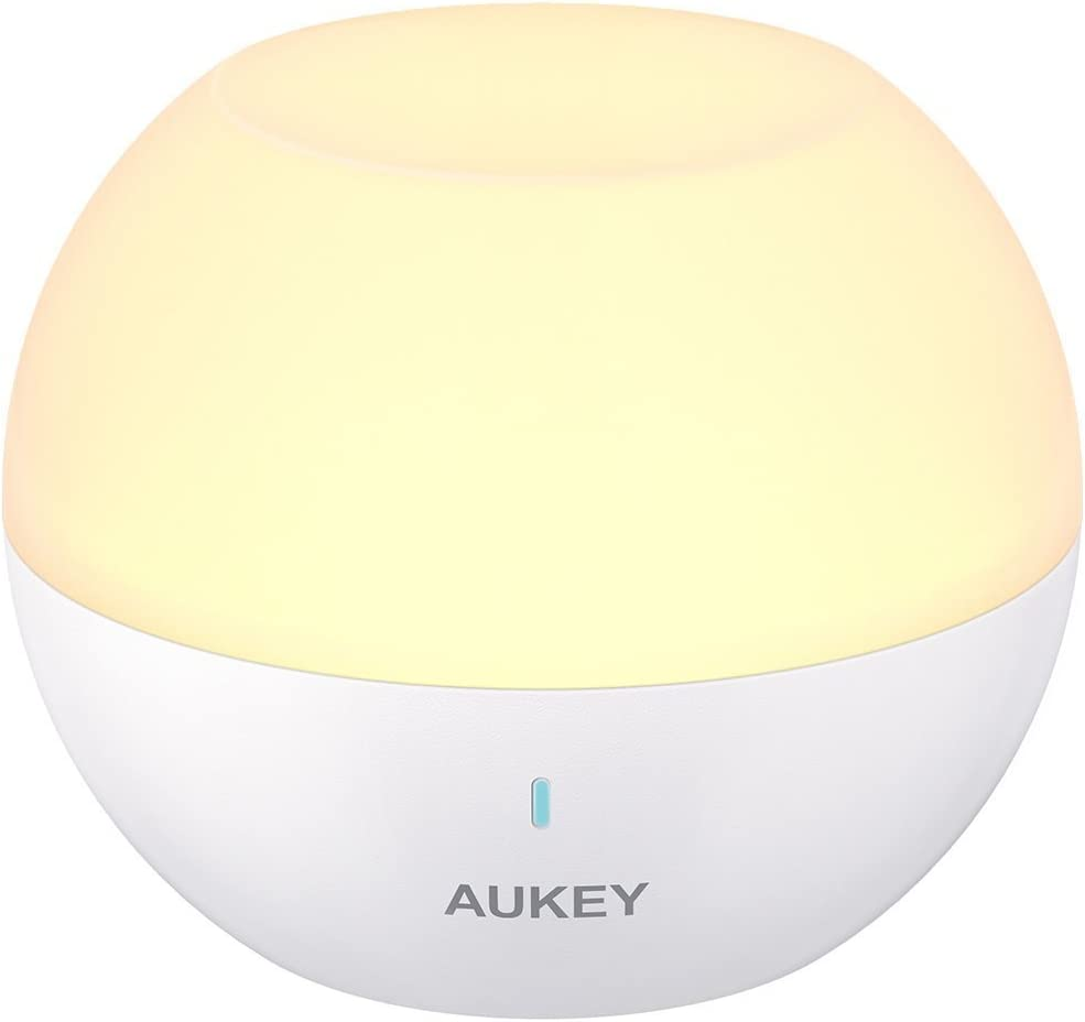 AUKEY アウトドアライト バス用ライト 間接照明 常夜灯 USB充電/IP65防水 色温度/明るさ調整可 子供安全素材 授乳/オムツ替え用 マグネット式 80時間稼動 LT-ST23 (ホワイト)