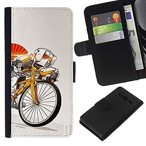 Stuss Case / Funda Carcasa PU de Cuero - Stormtrooper de bicicletas - Samsung Galaxy A3