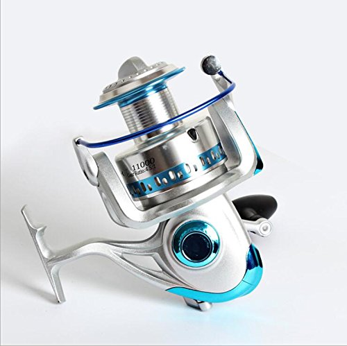 Fishcm Spinning Reel Saltwater Super Battler 8000 to 11000 Heavy Duty Surf Fishing Offshore Ultra High Braid Lines Capacity 9+1BB 4.5:1