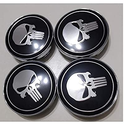 4Pcs/Set Car Stikcer Wheel Center Hub Cap Emblem Decal Punisher for BMW Audi Nissan Opel: Car Electronics