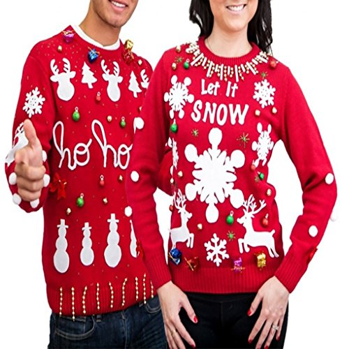 Men's Women's Ugly Christmas Sweater Kit New and -