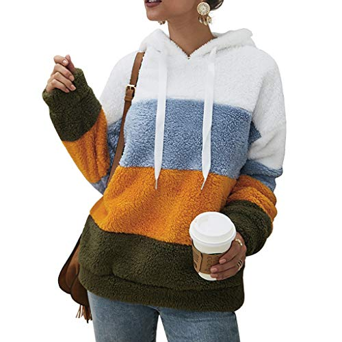 Women Hooded Plush Sweatshirt Blouse Tops Cotton Long Sleeve Plus Size Sweatshirt