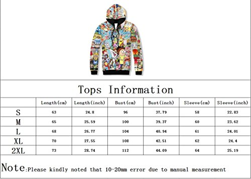 BTFS-TOPS Unisex Rick and Morty 3D Printed Tops With Pockets Hoodie Sweatshirts by BTFS-TOPS (Image #7)