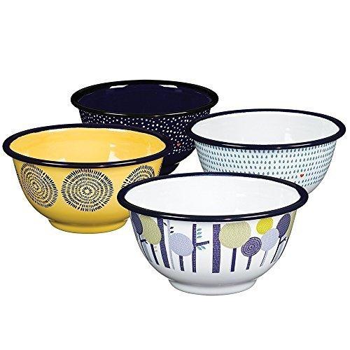 Folklore Enamel Bowls, Seasons Designs (Set of 4) by Folklore (Image #2)
