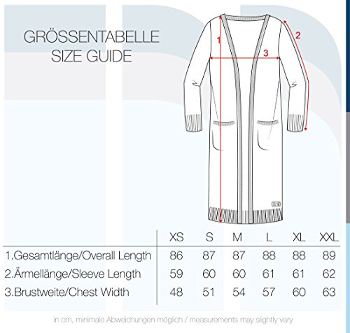 Femme Gilet She 70818 Cardigan Neli V Blend en Charcoal Encolure Maille en Veste Longue 86qattxw