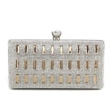 Argent et Bleu Brillante KEY Or Cliquet Pochettes gold Paillette clutches Métallique SUNNY vFAxRwn
