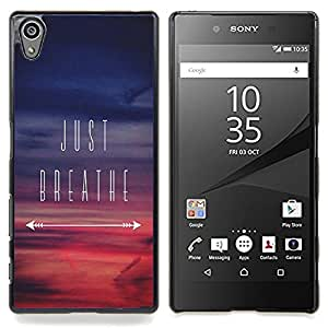 Eason Shop / Premium SLIM PC / Aliminium Casa Carcasa Funda Case Bandera Cover - Inspirado Sunset Purple - For Sony Xperia Z5 5.2 Inch (Not for Z5 Premium 5.5 Inch)
