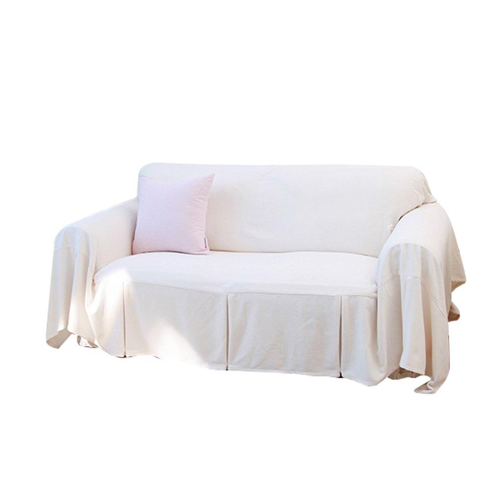 白いソファカバークロスソファカバータオルピュアカラーソファクッションフルカバーシンプル 美しくパターン化された (サイズ さいず : 300cm*180cm) 300cm*180cm  B07L4RXXFG