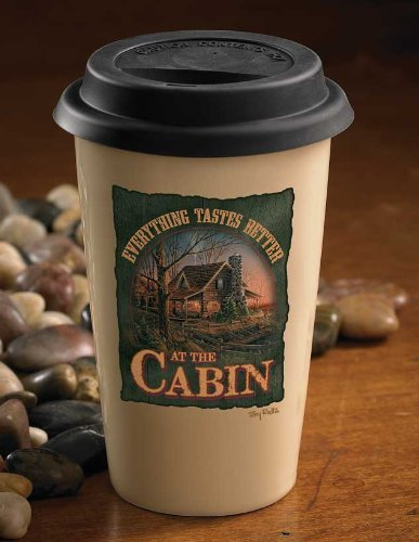 Everything Better At Cabin 350ml Travel Cup by Terry Redlin B00C9HMZ0A