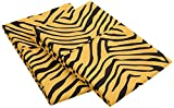 1800 Series 100% Brushed Microfiber, Wrinkle Resistant 2-Piece King  Pillowcase Set, Animal Print, Gold/Black