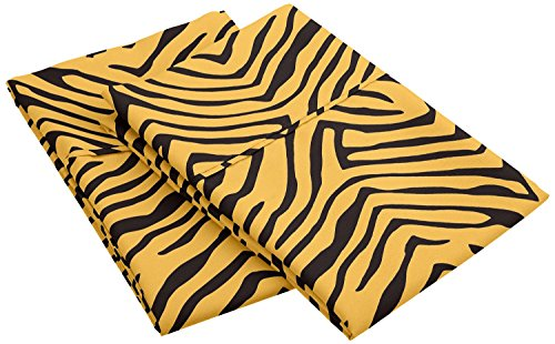 1800 Series 100% Brushed Microfiber, Wrinkle Resistant 2-Piece King  Pillowcase Set, Animal Print, Gold/Black by Superior