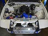 "Cxracing Aluminum 1.5"" Radiator Hard Pipe Kit for Ls1 240sx S13 S14 Swap Black Hose"