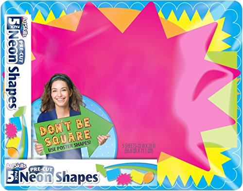 Poster Board 5 Posters (ArtSkills Large Pre Cut Poster Board Shapes, 22