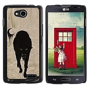 For LG OPTIMUS L90 / D415 Case , Vampire Moon Halloween Scary - Diseño Patrón Teléfono Caso Cubierta Case Bumper Duro Protección Case Cover Funda