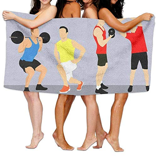 - LLiopn Lightweight,Quickly Absorbs Moisture for a Cozy Feel Beach Towel Beach Towel Fitness is Wealth 80