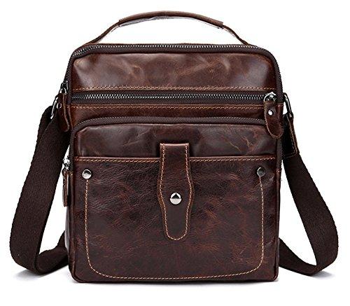 Smart Design Men's Vintage Genuine Leather Business Bag W...