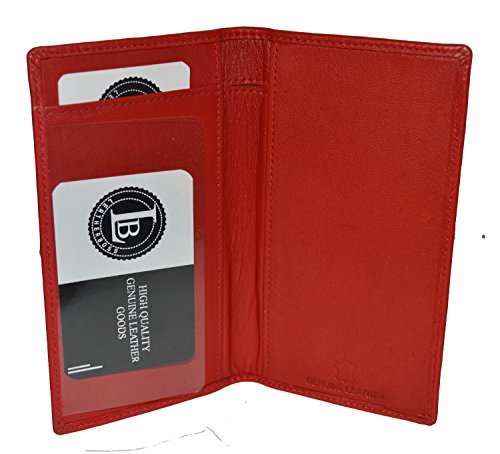 LeatherBoss Plain Checkbook Cover (Red)