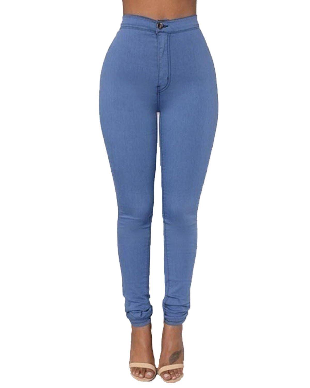 Cheap Zanzea Mujer Jeans Cintura Alta Casual Elastico Skinny Pantalones Vaqueros Iosnederland Nl