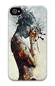 3D PC Back Case Cover for iPhone 4 Hard Shell Skin for iPhone 4 with Bloody Love by ruishername