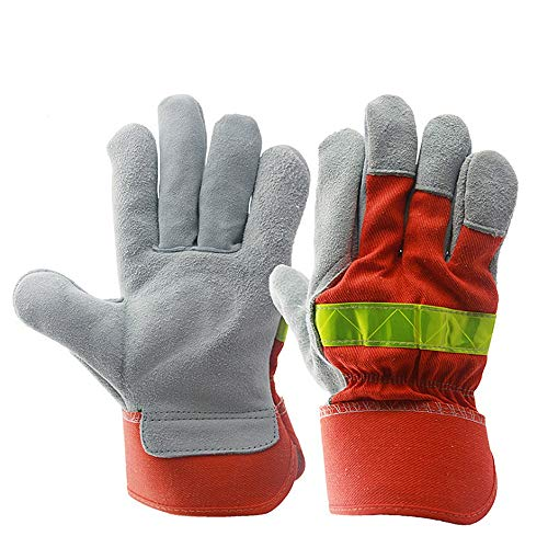 Shan water mouth Winter Climbing Cut-Proof Safety Gloves Welding Gloves, Two-Layer Leather Welding Gloves, Leather Anti-Cut Gloves, High-Temperature Resistant Gloves by Shan water mouth (Image #5)