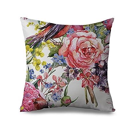 Cuscini Con Rose.Pialine Retro Vintage Rose Flower Cuscino Decorativo Cuscino Di