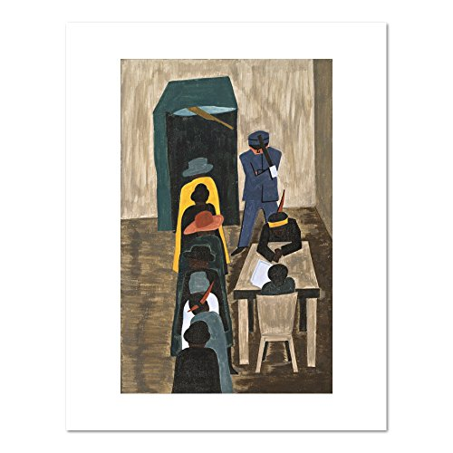 (The Migration Series, Panel no. 59: In the North they had the freedom to vote by Jacob Lawrence, 1940-41. Art Print )