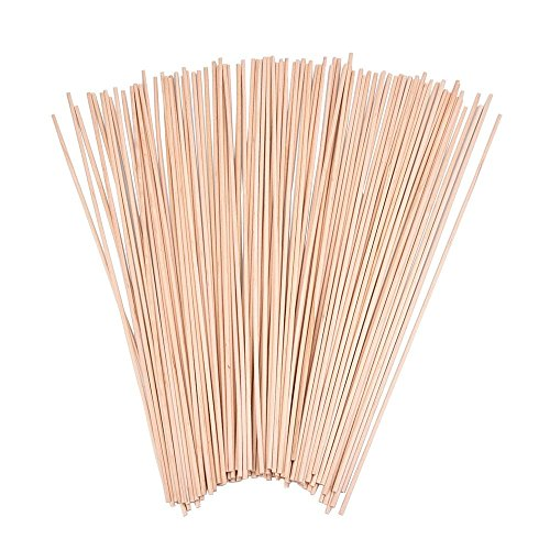 eBoot Unfinished Natural Wood Craft Dowel Rods 100 Pack (12 x 1/ 8 Inch) -