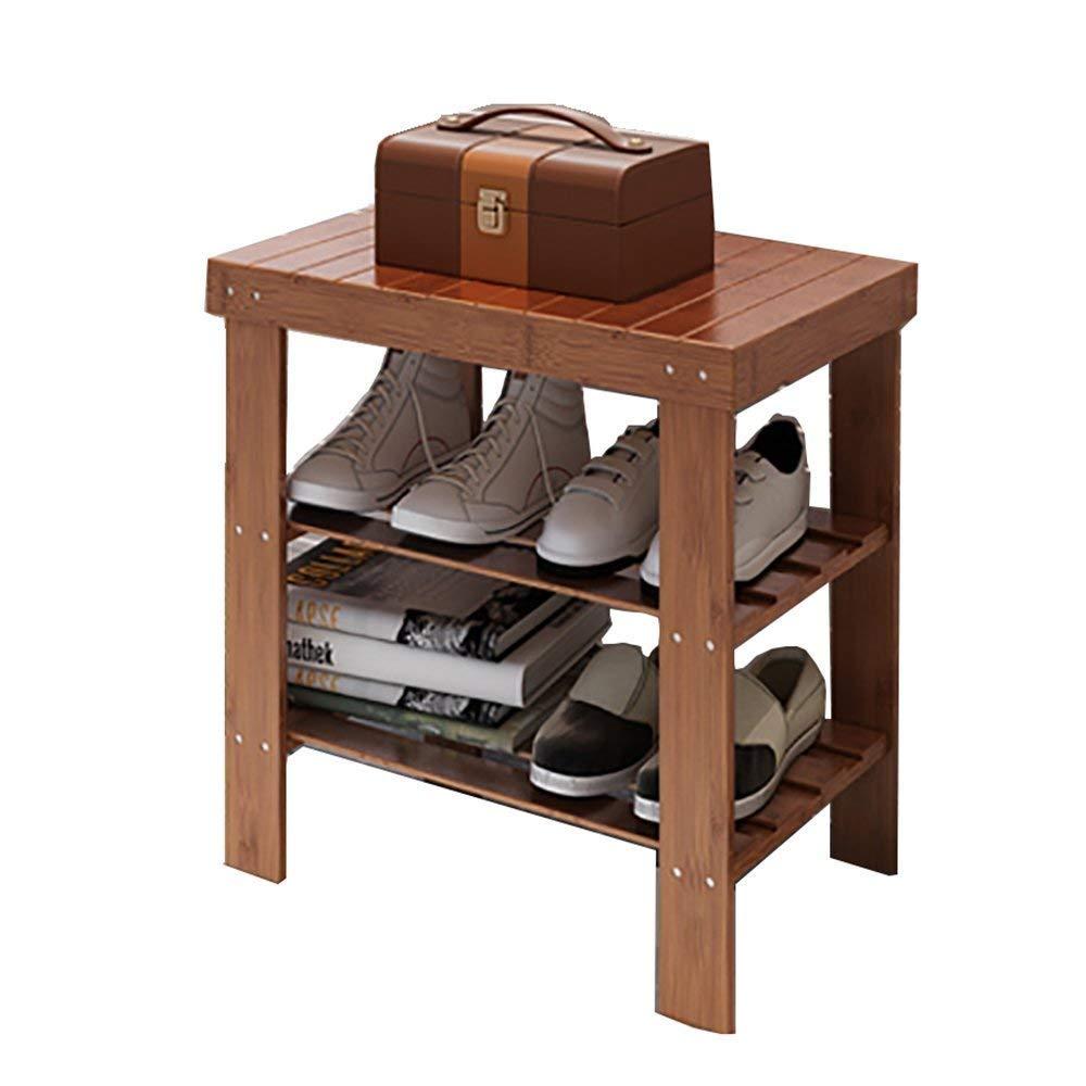 SCDXJ Shoe Rack - Solid Wood Shoe Rack, Espresso Home Shoe Rack for Living Room Entrance Bedroom Hallway Cloakroom (Size : 51cm) by SCDXJ